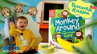 Games For Toddlers | Monkey Around By Peaceable Kingdom | Play And Review