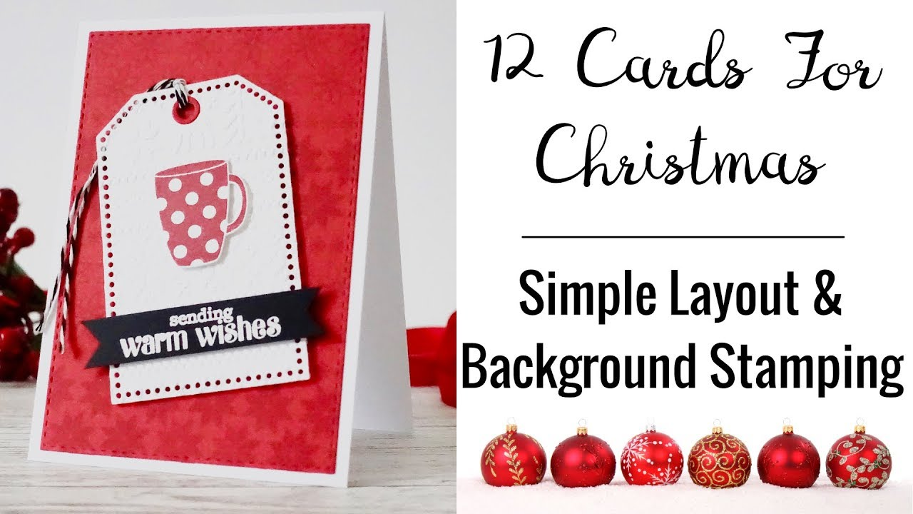 12 cards for christmas card 5 christmas card with simple layout background stamping - Christmas Card Layout
