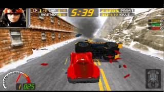 Carmageddon 1: Gameplay destroying cars and polices