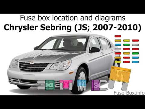 fuse box location and diagrams: chrysler sebring (js; 2007-2010) - youtube  youtube