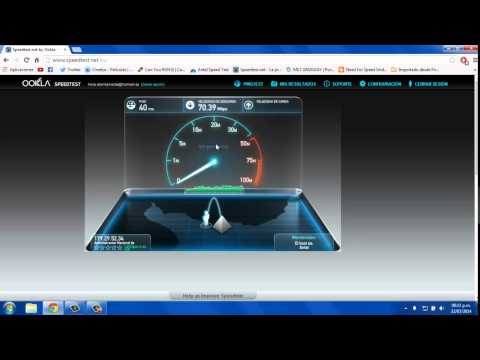 Speed test LTE (URUGUAY) MEDIANTE CABLE