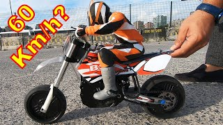 BSD Racing 404T - 1:4 Scale Electric RC Motorcycle TOP SPEED TEST!