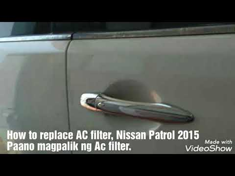 Nissan Patrol 2015, How to replace AC filter, Tagalog