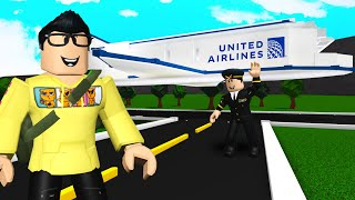 Airplane Let Me FLY For FREE.. But The Pilot Was Trapping YOUTUBERS! (Roblox Bloxburg)