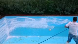Čistenie bazéna a odstránenie vodného kameňa10x4m