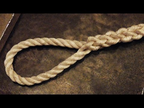 """Easy To Follow"" - How To Tie An Eye Splice In 3 Strand Rope"