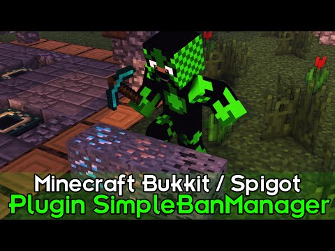 Minecraft Plugin Tutorial SimpleBanManager - Menu de Ban e Kick