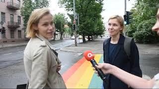Praeiviai dalinasi mintimis apie vaivorykštės spalvų perėją Vilniuje alfa lt reportažas