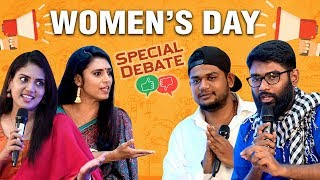 Women's Role in Social Media: Boon or Bane? Women's Day Celebration | Debate show with Kasthuri