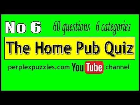 The Home Pub Quiz No 6
