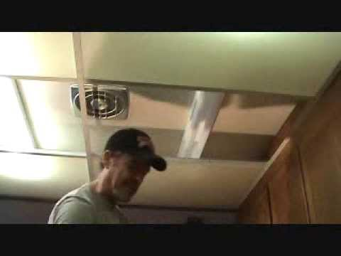how to remove a kitchen suspended dropped ceiling - youtube