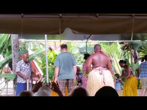 Corey dancing with Fiji dancers | Polynesian Cultural Center, Oahu