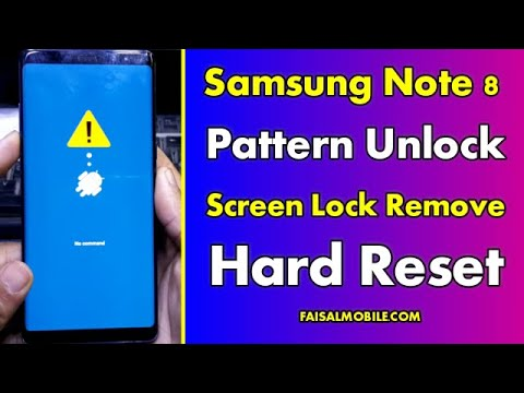 Samsung Galaxy Note 8 Hard Reset || Unlock Pattern || Pin || Password