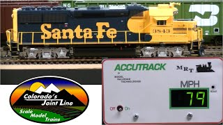 Speed Matching DCC Model Railroad Train Engines with Accutrack Speedometer