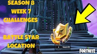 Fortnite - SEASON 8 SEMAINE 7 DISCOVERY CHALLENGE SECRET BATTLE STAR LOCATION IN LOADING SCREEN #7