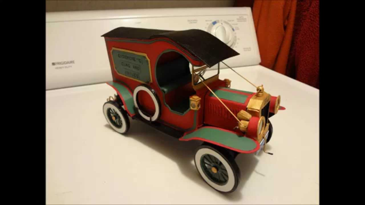 Cardboard Ford Model T battery operated with lights  YouTube