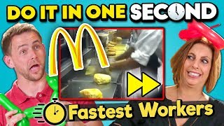 Try To Complete In One Second Challenge (Fastest Workers #2)