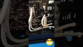 How much do you think this watercooling cost me? Mounting liquid to my friend's computer