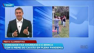 Festa clandestina: vereador faz churrasco e brinca com o meme do caixão em plena pandemia