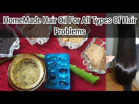 Homemade Hair Oil for Faster Hair Growth For Men & Women - Home Remedies Vitamin E & Aloe Vera - DIY - 동영상