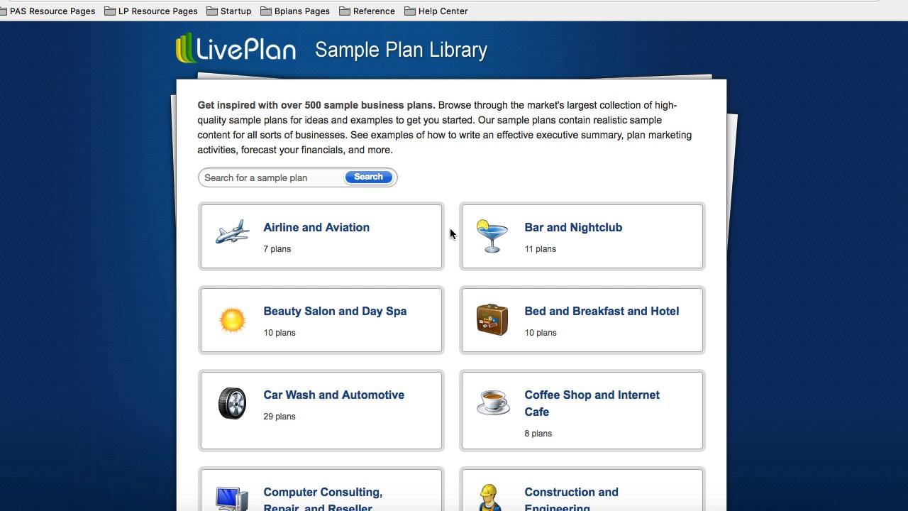 Using the sample plans in liveplan youtube using the sample plans in liveplan flashek Images