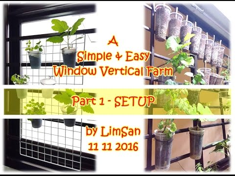 Singapore LimSan : A Simple & Easy Window Vertical Farm - Part 1 SETUP