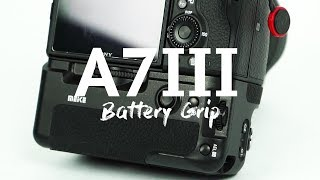 A cheaper battery grip for the new A7iii, alot less than the Sony o...