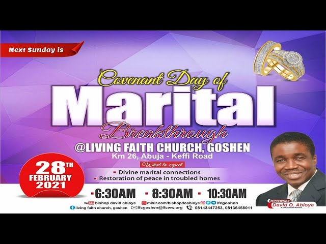 ENGAGING THE POWER OF FAITH FOR FULFILMENT OF PROPHECY PT. 4A | 1ST SERVICE | FEBRUARY 28, 2021
