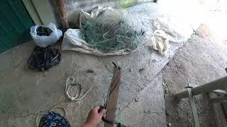 Как догрузить рыболовную сеть что бы она работала