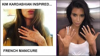 HOW TO DO A MANICURE (NEW WAY) | TUTORIAL | KIM KARDASHIAN INSPIRED | FRENCH NAILS  UNDER $10