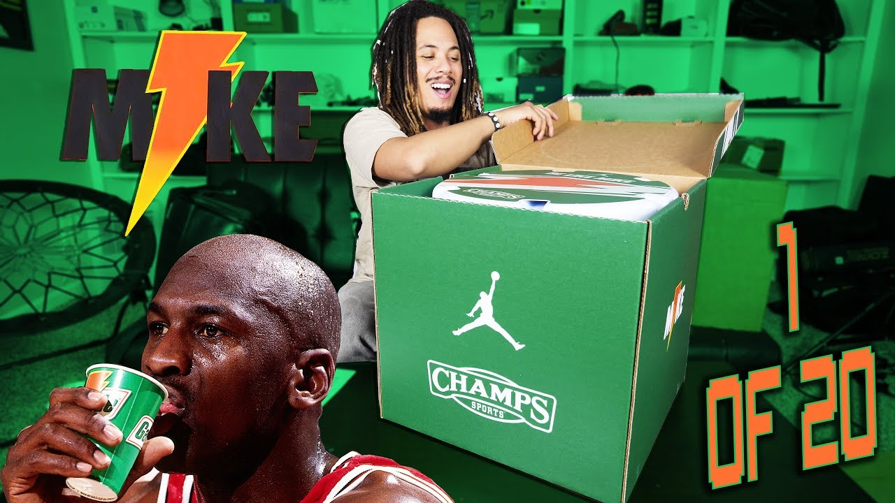 d8850aea29c UNBOXING A LIMITED EDITION JORDAN X GATORADE COLLECTION PACKAGE !!!