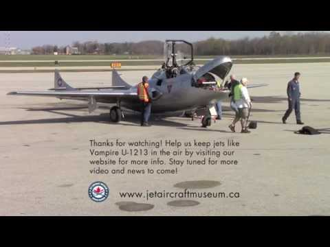 De Havilland Vampire First Flight - Jet Aircraft Museum