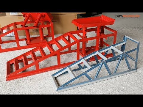 Super Rampe auto avec levage hydraulique Arebos Car ramps - YouTube DT-66