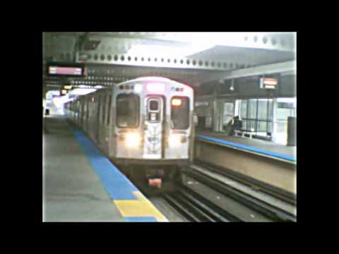 CTA Pink Line trains in action (06-30-15)