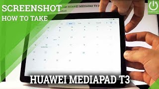 how to Take Screenshot on HUAWEI MEDIAPAD T3 - Capture Screen