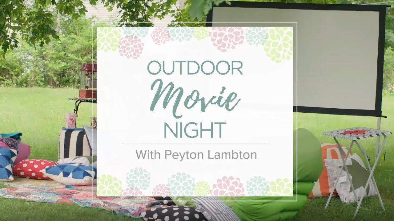 setup a backyard movie night youtube