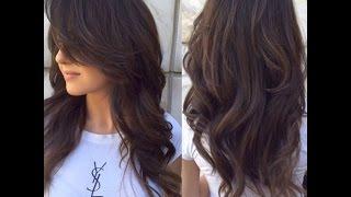 Стрижка каскад на длинные волосы без челки с фото и видео