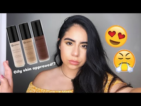 NEW BH Cosmetics Naturally Flawless  Foundation   Sand & Golden Toffee   OILY SKIN WEAR TEST