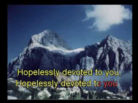 Hopelessly devoted to you karaoke