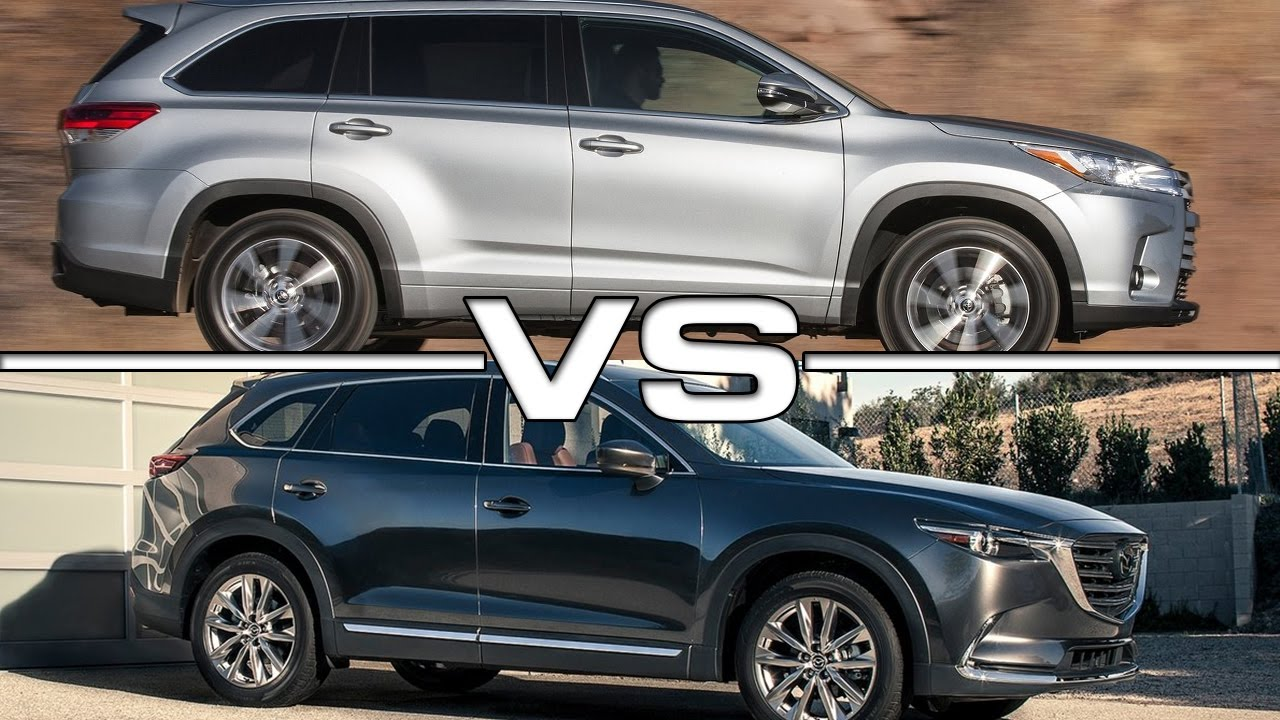 2017 Toyota Highlander Vs Mazda Cx 9