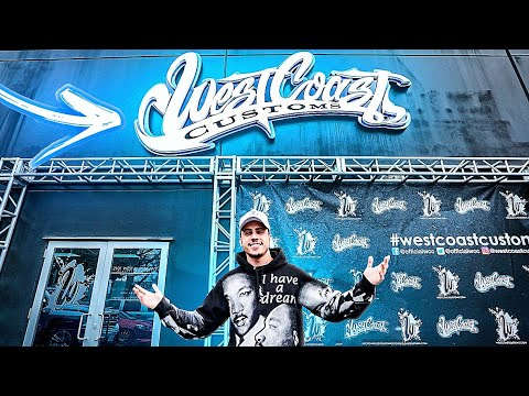VISITEI A WEST COAST CUSTOMS NA CALIFÓRNIA!
