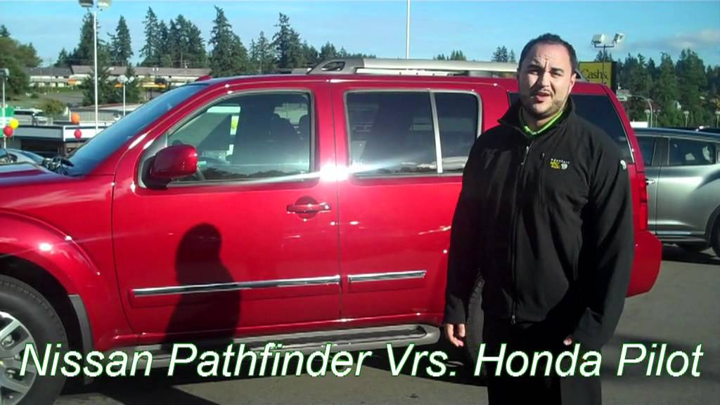 bremerton honda pilot 2012 vs seattle nissan pathfinder youtube. Black Bedroom Furniture Sets. Home Design Ideas