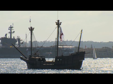 San Salvador Makes Public Debut in Parade Of Sail