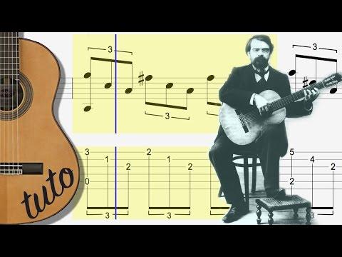 TUTO - ARPEGGIO ROMANTICO -  FINGERSTYLE CLASSICAL GUITAR - etude de TARREGA