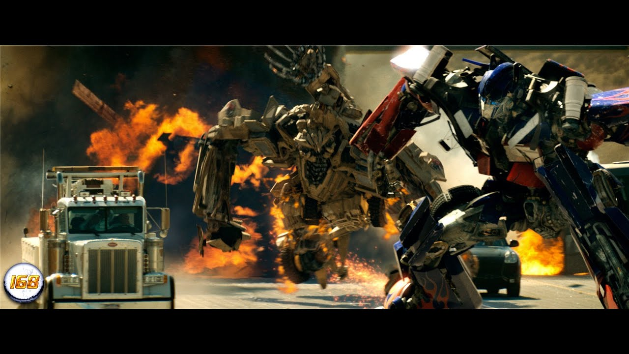 transformers (2007) optimus prime vs bonecrusher 1080p [hd] - youtube