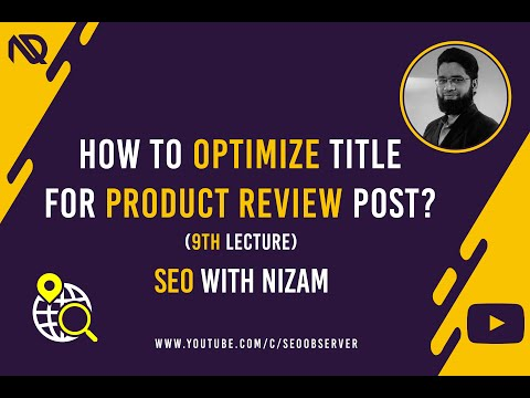 How To Optimize Title For Product Review Post? (9th Lecture) - Urdu/Hindi