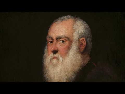 100 Meisterwerke - Bildnis eines weißbärtigen Mannes - Tintoretto