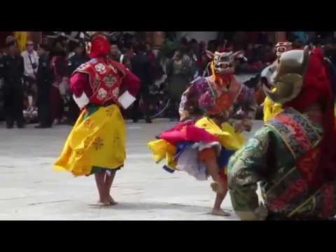 Punakha 2015 Tsechu (Festival)  Pacham - Dance of the heroes.  Bhutan