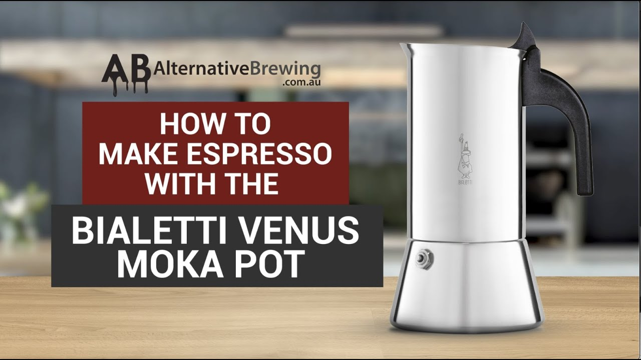 how to use the bialetti venus moka pot espresso coffee