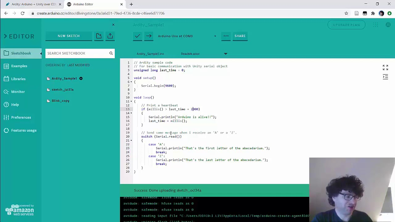 Ardity - free plugin for connecting Arduino & Unity